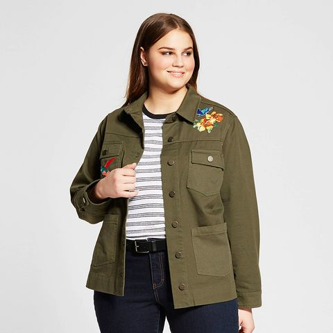 Plus Size Patchwork Jacket