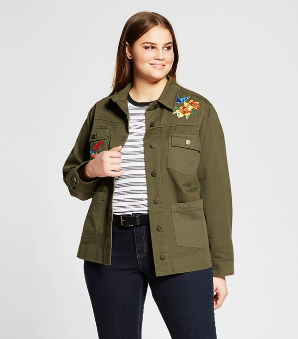 Who What Wear Plus Size Patchwork Jacket