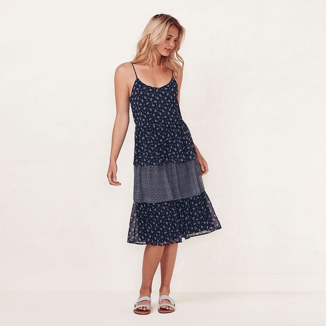 LC Lauren Conrad Tiered Shift Dress