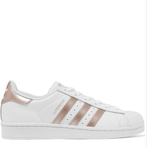 Superstar Matte and Metallic-Leather Sneakers