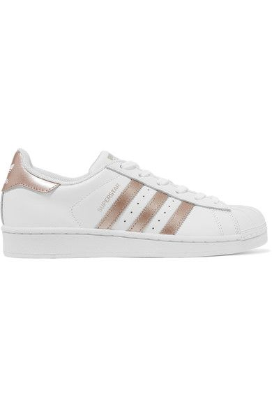 Adidas Originals Superstar Matte and Metallic-leather Sneakers