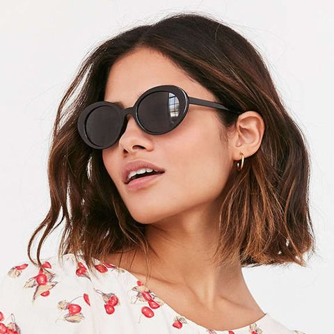 Sadie Slim Oval Sunglasses