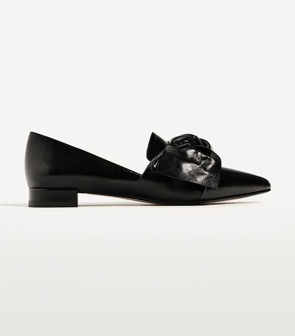 Chicago fashion - Zara Flat Shoes With Bow Detail