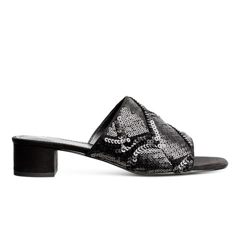 Sequined Mules