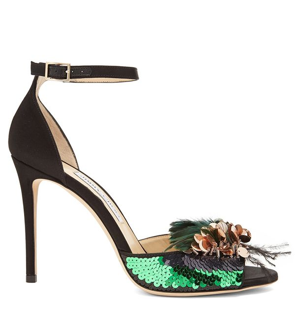 Jimmy Choo Annie 100mm Embellished Sandals