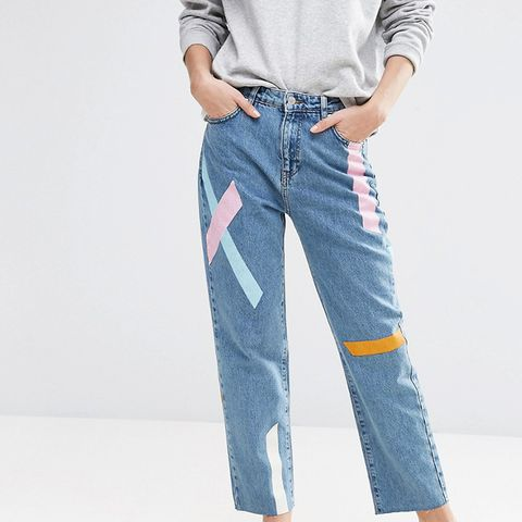 Painted Stripe Jeans