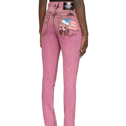 Pink Flood Stovepipe Jeans
