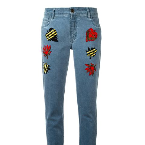 Multi Patch Jeans