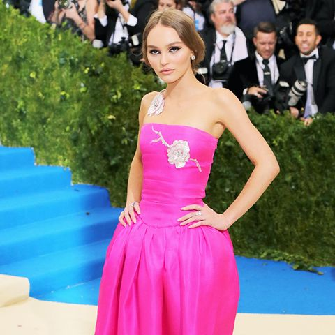 Met Gala 2017 red carpet: Lily Rose Depp pink dress