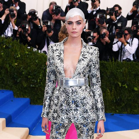 Met Gala 2017 red carpet: Cara Delevingne in Chanel suit