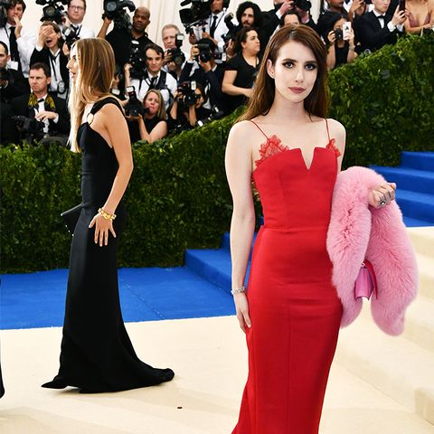 Met Gala 2017 red carpet: Emma Roberts in red dress