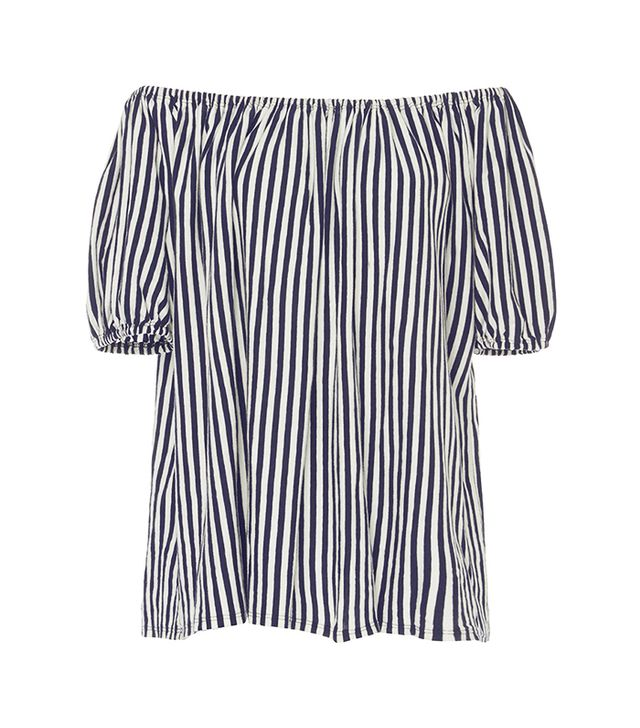 MDS Stripes Knit Abby Top