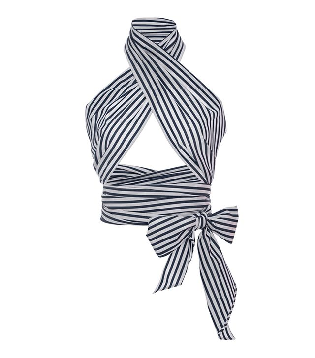 MDS Stripes Striped Everything Scarf Top