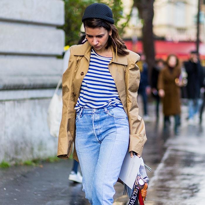 striped shirt street style