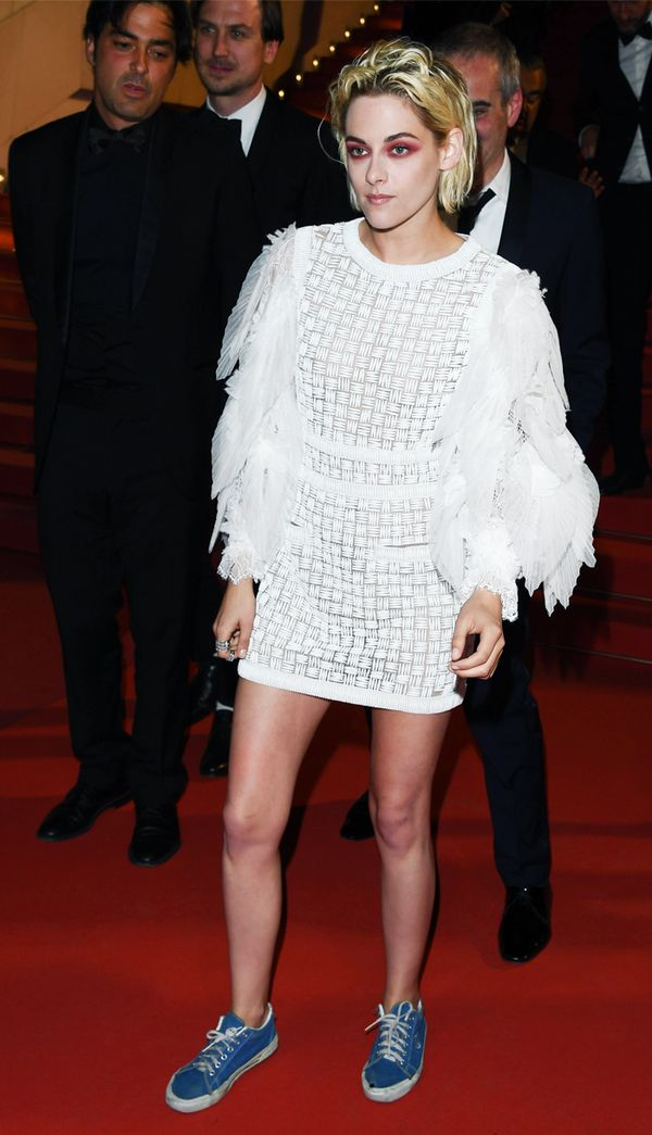 Kristen Stewart style: Chanel dress and trainers on the red carpet