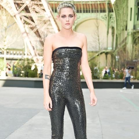 Kristen Stewart style: Chanel bodysuit and classic heels