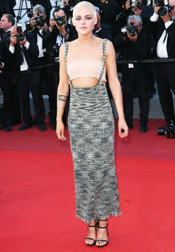 Kristen Stewart style: Chanel top and dress at Cannes