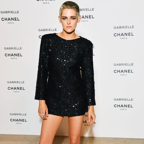 Kristen Stewart style: short Chanel dress