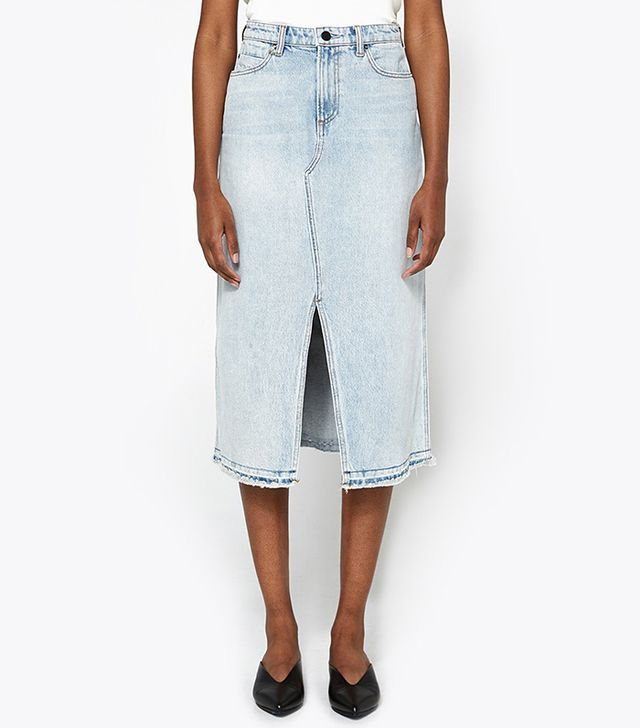 Alexander Wang Midi Skirt in Bleach