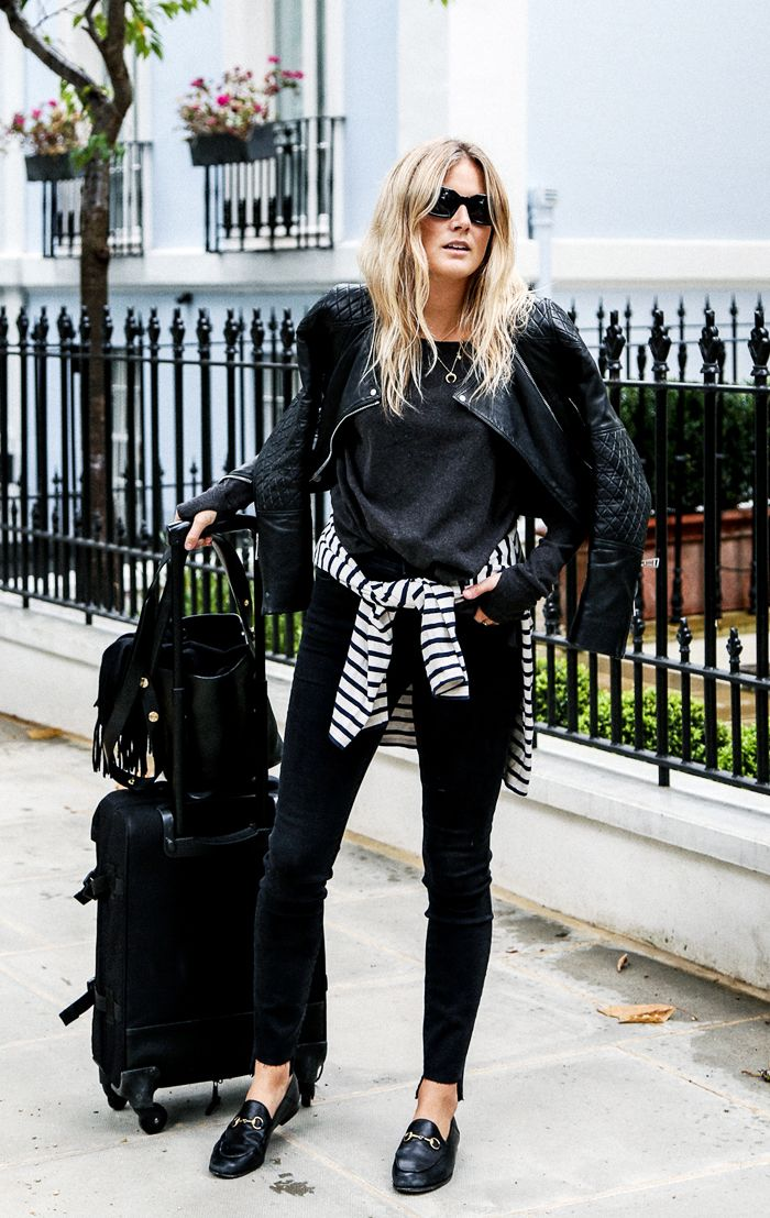 Airport style fashion blogger: Lucy Williams