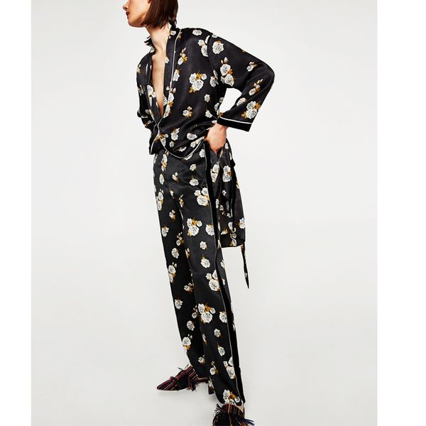 Best Co-Ords: Zara Printed Palazzo Trousers and Kimono