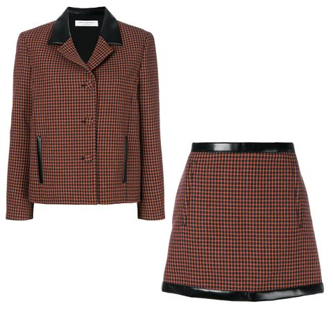 Fitted Contrast Collar Jacket
