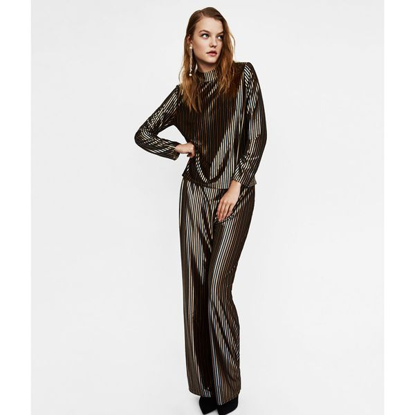 Best Co-Ords: Uterque Jacket With Embroidery Detail and Trousers
