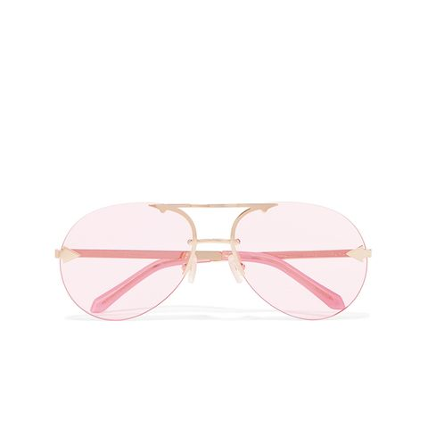 Love Aviator-Style Gold-Tone Sunglasses