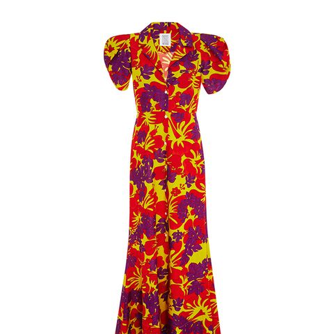 Puff Sleeved Floral Gown