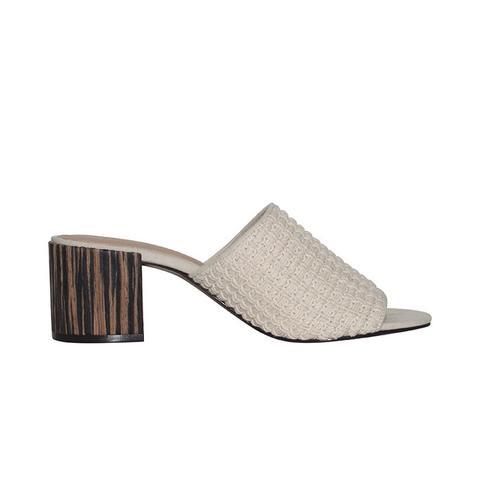 Felicity Macrame Strap Block Heel Slide