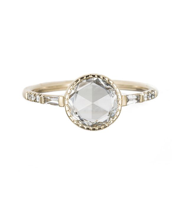Jennie Kwon Round RC Diamond Baguette Ring