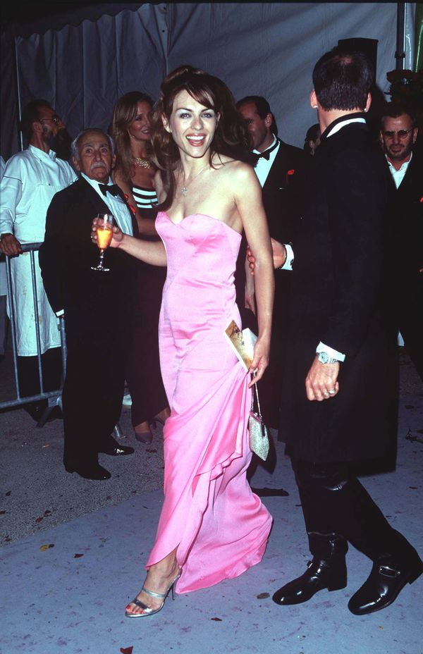 Elizabeth Hurley in the 90's Cannes Film Festival red carpet