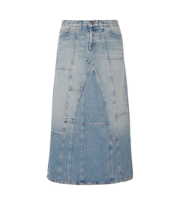 The Diy Patchwork Denim Maxi Skirt