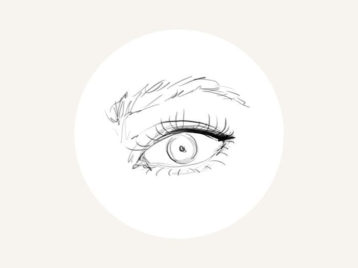 Line Drawing Eye : How to apply eyeliner for your unique eye shape byrdie