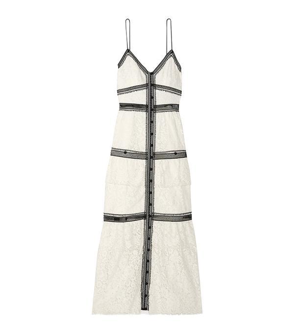 2 in 1 dress trend - Self Portrait Two-Tone Maxi Dress