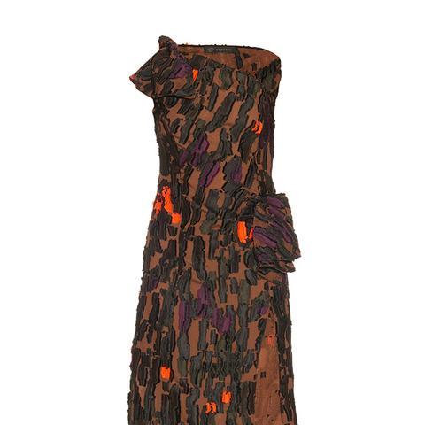 Camouflage One-Shoulder Dress