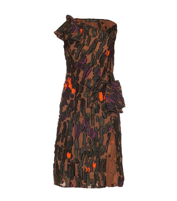 2 in 1 dress trend - Versace Camouflage One-Shoulder Dress