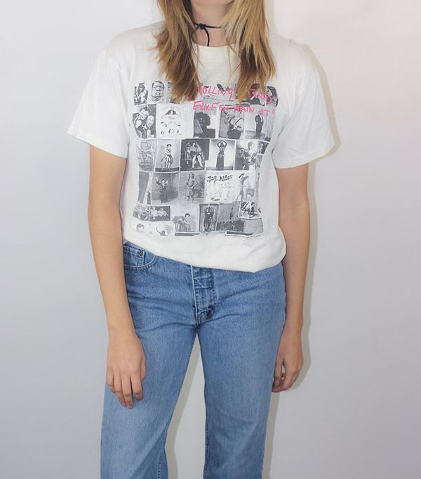 2 in 1 dress trend - The Vintage Hideout Rolling Stones Vintage T-Shirt