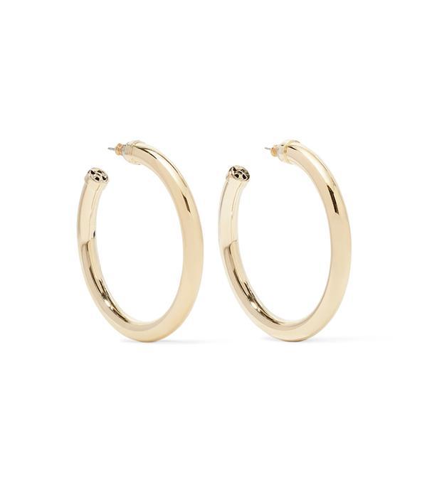 2 in 1 dress trend - Kenneth Jay Lane Hoop Earrings