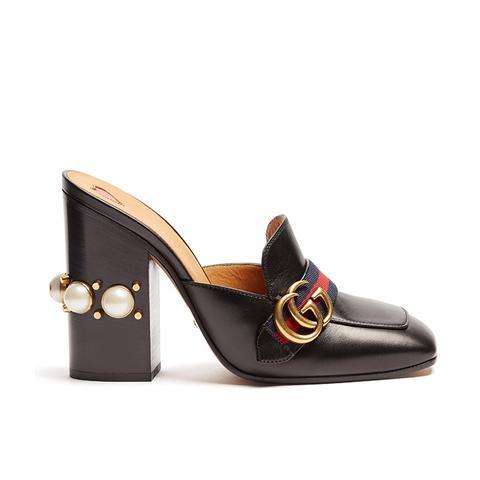 Peyton Faux-Pearl Leather Shoes