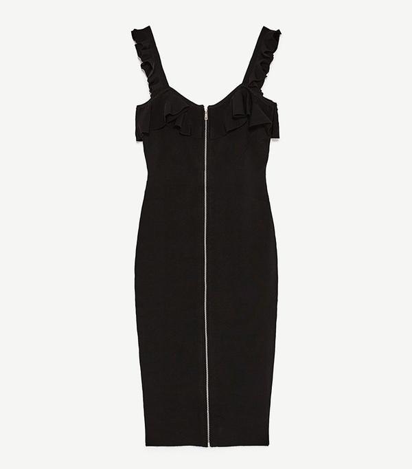 summer dress styles - Zara Zip-Up Dress