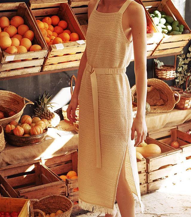 cute weekend outfits - Nanushka Danna Dress in Créme