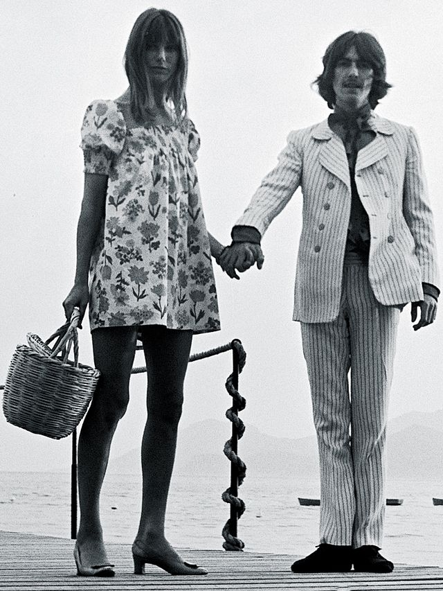 Style Notes: Arriving at Cannes Film Festival alongside George Harrison, this is an all-time favourite Birkin getup of many a fashion editor.