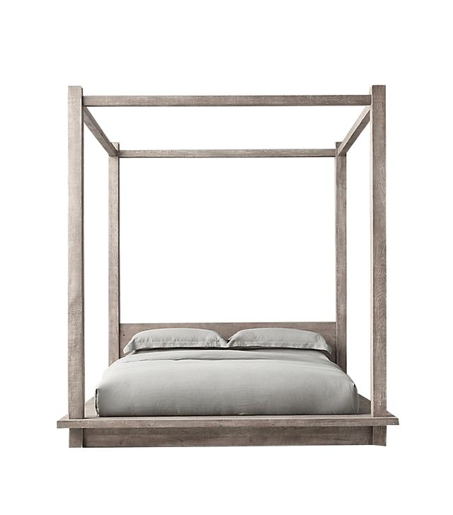 Restoration Hardware Reclaimed Russian Oak Canopy Bed