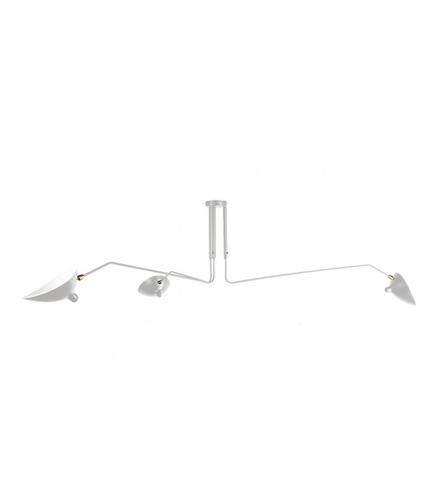 Serge Mouille Three-Arm Rotating Ceiling Lamp