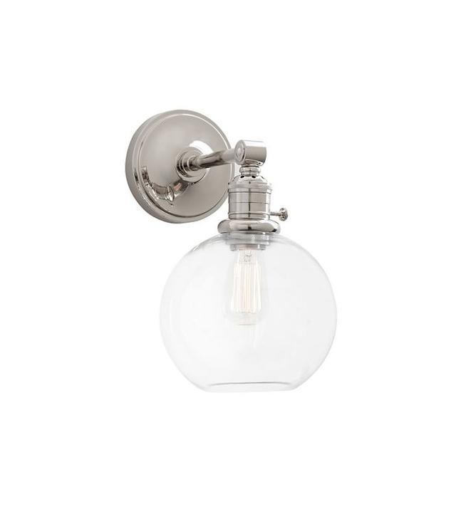 PB Classic Glass Globe Hood Bronze Sconce Kit
