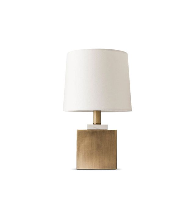 Target Brass and Marble Box Accent Lamp