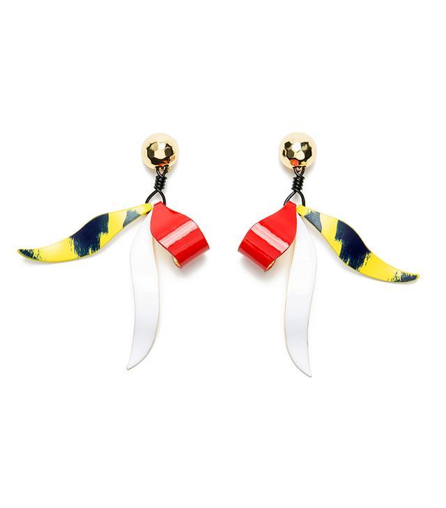 Bimba y Lola Leather Earrings