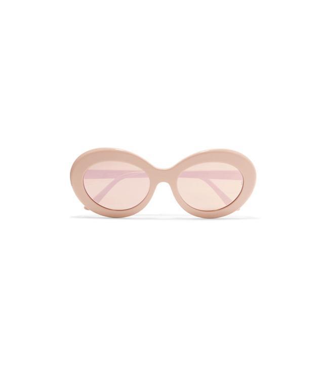 Sunday Somewhere Kurt Oval-Frame Acecate Mirrored Sunglasses