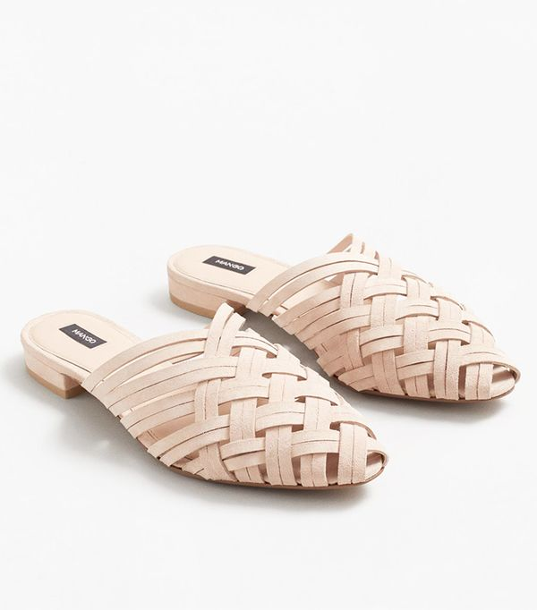 Mango Braided Leather Shoes